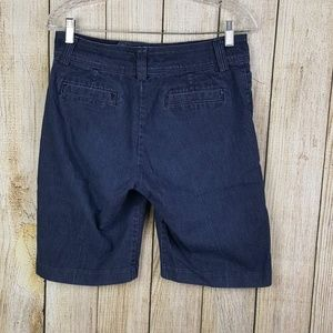 Lee Womens Denim Shorts Size 6 Natural Fit Walking